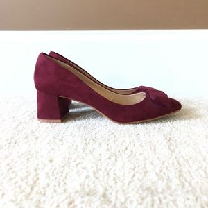Burgundy Heels with Bow